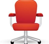 uredski stolac ilustracija