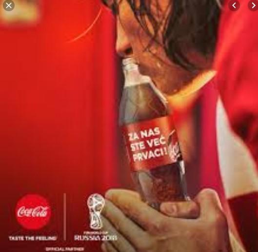 reklama i boca Coca Cole u Hrvatskoj (izvor: Facebook stranica Coca Cole)