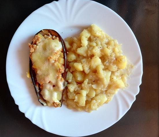 restani krumpir uz punjeni patlidžan